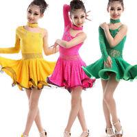 Girls Adults Ballroom Latin Dance Dress lady Children's Dancewear Costumes dress