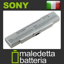 Batteria ARGENTO 10.8-11.1V 5200mAh per Sony Vaio VGN-CR31S/D