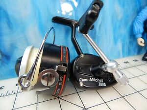vintage Fishing Reel  MITCHELL Garcia 300A Spinning tackle lure rod trout