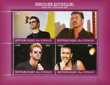 Congo 2018 MNH George Michael 4v M/S II Celebrities Popstars Music Stamps