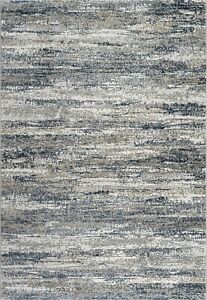 Blue Beige Abstract Faded Erased Vintage Design High Quality Durable Area Rugs
