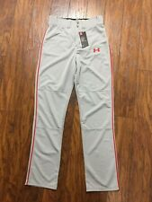 Under Armour Men's Clean Up Baseball Pants - Grey/Red Small
