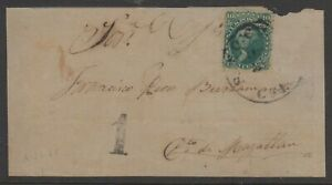 USA 1861, 10c Washington #68 on Cover front to Chile.