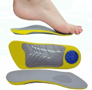 Orthotic Insoles 3/4 Plantar Fasciitis Arch Support Flat Feet Pain Relief UK