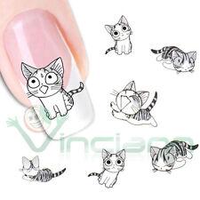 Adesivo sticker Gatti art decorazione unghie unghia trasferimento acqua gatto