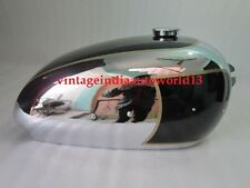NEW BSA GOLDEN FLASH CHROME AND BLACK PAINTED FUEL PETROL TANK WITH FUEL CAP