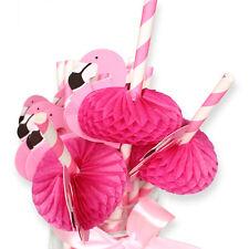 Lots 10PC Flamingo Straw Plastic Drinking Straws Birthday Wedding Party Supplies