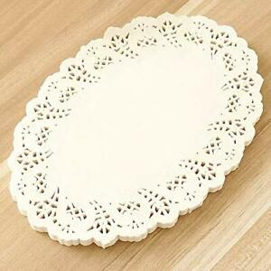 8.5*12.5 Inch - Oval Shape Paper Doilies Cake Table Mats,100Pcs - Color May Vary
