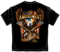 2nd Second Amendment AR-15 T Shirt Mens Gun NRA Eagle American Flag Tee S-3XL