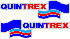 Quintrex, 3 Colour on White Background, Fishing, Boat, Mirrored Decal Set of 2