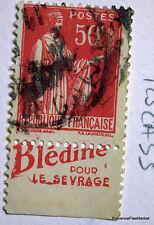 FRANCE TIMBRE OBLITERE BANDE PUBLICITAIRE PUB SUR PAIX 50c Yt 283 125CA55