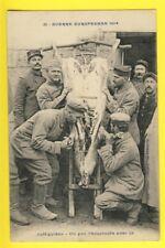 cpa WW1 GUERRE 14 COËTQUIDAN Abattage du COCHON pour la CHOUCROUTE Pig slaughter