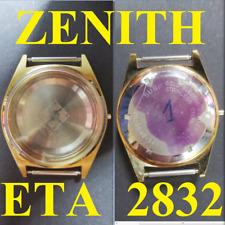 cassa zenith eta 2832 af ref. 20 0040 345 steel plated automatic case watch 36 m