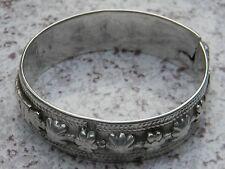 Heavy Antique French Cast Silver Bracelet 19th Century