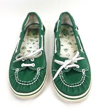 517fca7d782484 VANS Abby Womens SIZE 6 Green Slip On Flat Boat Shoes Sneakers