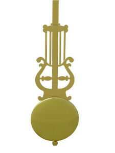 New Fancy Lyre Pendulum Attachment with Rod and Bob! - For Battery Clock Motors