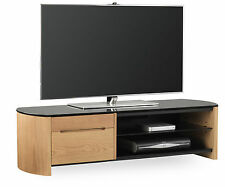 Alphason Finewoods 1350 Cabinet Real Wood Veneer and Glass TV Stand FW1350CB-LO