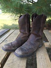 Mens Georgia Boot Western Cowboy Work Boots, 11 W, Worn