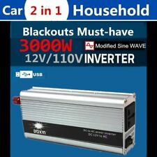 Modified Sine Wave Power Inverter 3000W (6000W Max) DC12V-AC110V Car Home F#