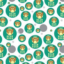 Free Bear Hugs Funny Humor Premium Gift Wrap Wrapping Paper Roll