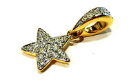 Bijou Swarovski cristal pendentif étoile alliage doré pendant