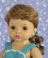 BELLEN Ginger Doll Wig Full Cap Size 10-11, Curly Ponytail
