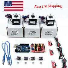 Arduino CNC Kit w/ Atmega16u2 UNO+Shield+ Stepper motors DRV8825 Endstop GR