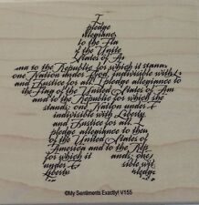 NEW MSE! My Sentiments Exactly! Mounted Wood Rubber Stamp V155 Pledge Sentiment