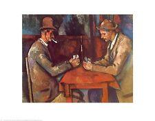 Paul Cezanne Kartenspieler Poster Kunstdruck Bild 56x71cm