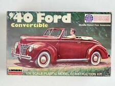 Lindberg Ford '40 Custom Convertible 1/32 scale Model Complete Excellent