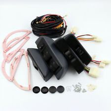 Universal Car 12V Power Window Lock Kit 4 Rocker Switch Fit for 4 Doors Car