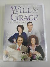WILL & GRACE TEMPORADA 3 COMPLETA 3 X DVD ESPAÑOL ENGLISH REGION 2