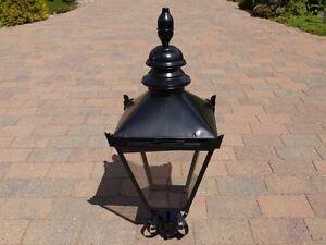 Black Victorian Lamp post Top lantern  Traditional garden street light 90 cm
