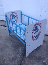 Vintage Blue and White Doll Bed
