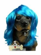 Pet Supplies -Dog Costumes Blue Wavy Syethetic Hair Pet Dog Cat Wigs-gift
