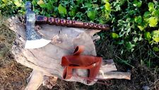 MDM HAND FORGED TOMAHAWK COMBAT HATCHET BEARDED DIAMOND WOOD AXE - RAZOR SHARP