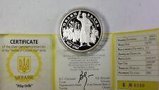 2002 Ukraine 10 Hryvnias Pilip Orlik Silver Proof Commemorative Coin