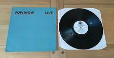 Vow Wow Live 1987 UK LP PBL102 A1 B1 Heavy Metal Hard Rock