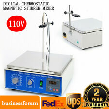Digital Lab Hot Plate Magnetic Stirrer Mixer Thermostatic Heating Power 300w Usa