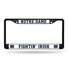 Notre Dame Fightin' Irish Black Metal License Plate Frame