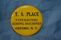 Vintage Celluloid Pocket Mirror Advertising T.S. Place Oxford NY