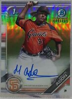 MELVON ADON ⭐ 2019 Bowman Chrome Prospects ON CARD Auto Refractor /499 Giants