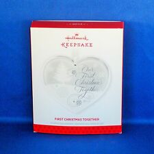 Hallmark - 2013 First Christmas Together - Glass Heart - Keepsake Ornament - NEW