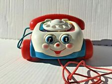 Fisher-Price #2251 Chatter Phone Pull-Along Play Phone Eyes Roll Up & Down 1993