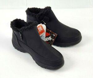 Totes Women's Adult 9W Andi Waterproof Winter Ankle Boots Black Waterproof Zip