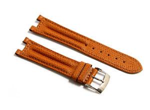 Cinturino orologio vera pelle tabacco compatibile breil pareo tribe 20mm watch