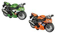 KIDS DIECAST METAL MOTORBIKE MOTORCYCLE VEHICLE TOY PULL BACK RACER