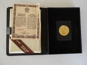 1979 Canadian Maple Leaf/QE II $100 22 Karat 1/2 ounce Gold Proof Coin Box COA