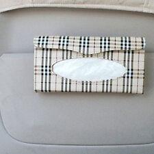 Auto Car sun visor Tissue box accessories holder Paper napkin clip- PU leather