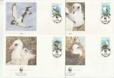 WWF 4 x FDC Christmas Island 1990 - Vogels / Birds (406)